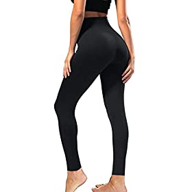 High Waisted Leggings For Women Soft Athletic Tummy Control Pants For Running Cycling Yoga Workout Reg Plus Size Black02 Plus Size Us 12 24