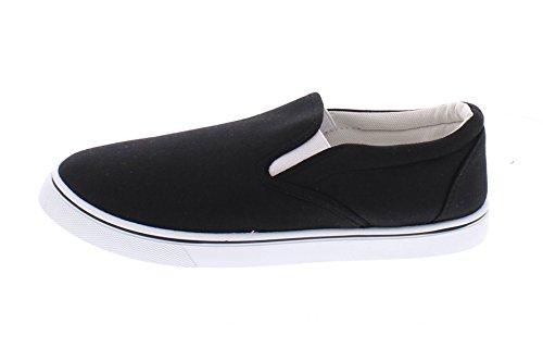 Gold Toe Goldtoe Männer Doug Memory Foam Canvas Schuhe Casual Slip On Sneakers Spitzenlose Loafer Skate Deck plimsolls Schwarz
