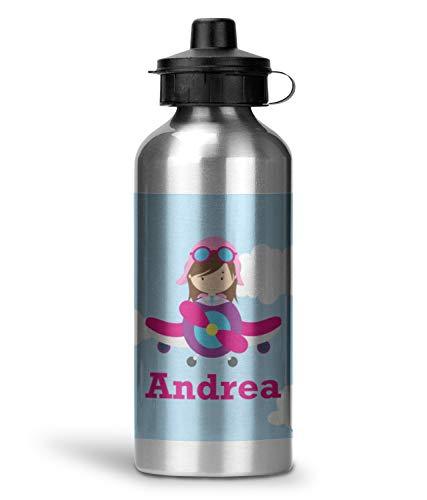 Airplane & Girl Pilot Water Bottle - Aluminum - 20 oz