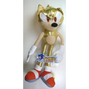 Amazon Com Sega Sonic The Hedgehog Plush Series Super Sonic 9in