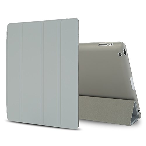 Besdata Polyurethane Smart Cover Protective Case 6th Back Cover for iPad white white iPad Air 2