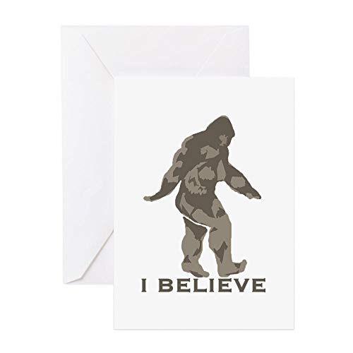 CafePress I Believe In The Bigfoot Greeting Card (10-pack), Note Card with Blank Inside, Birthday Card Matte
