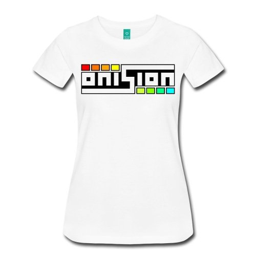 Spreadshirt Women's Onision Logo T-Shirt, white, M