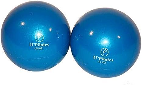 Pelotas lastradas, 1,5 kg, color azul (por par): Amazon.es ...
