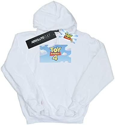 Disney Damen Toy Story 4 Cloud Logo Kapuzenpullover Weiß Medium