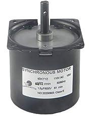 CHANCS 60KTYZ AC Synchronous Motor 110V 60/72RPM CW/CCW 14W Low Noise Electric Motor