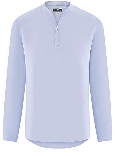 7000n Oodji Sans Homme Chemise Col En Ultra Bleu Lin UWUqC4z