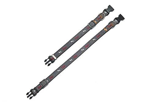 strong adjustable dog collar  denim nylon dog collar  1