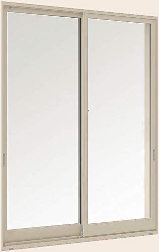 デュオPG 引き違い2枚建て 半外付型 256132 W:2,600mm × H:1,370mm ガラス種類:型4mm-A11-透明3mm 製品色:シャイングレー(K) アングル:付 LIXIL リクシル TOSTEM トステム