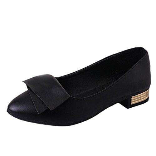 Shallow Flats de mujer Shoes Leisure Confort Negro Mocasines Ladies perezosos Slip trabajo para Transer Casual Office Zapatos UBwnEFUH