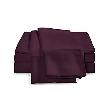 400 Thread Count Bed Sheets - 100% Egyptian Cotton Sheet Set by ExceptionalSheets, Full, Plum
