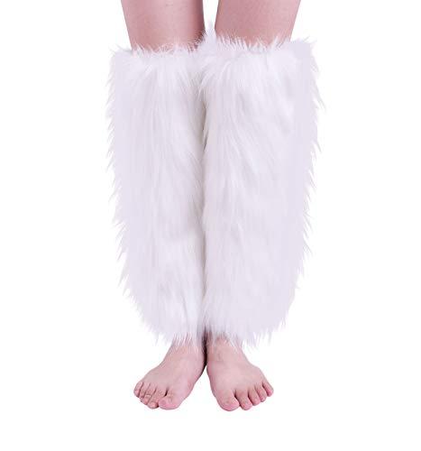 Nanxson(TM) Women's Knit Acrylic Long Leg Warmer with Fur TTW0034 -