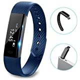 Fitness Tracker by Torus Pro | Smart Watch, Fitness Watch, Mens Watch, Weight Loss | Get Fit and Stay Fit | Pedometer, Watch, Sleep Monitor, Activity Tracker, Fitness, Bluetooth, Calorie Counter, Wrist Band, Fit Bit, Digital Watch, Best Activity Tracker, SMS and Call Reminder plus Sleep Monitoring, Wireless Phone App, Long Battery Life Dependant on Usage, Smart Wrist Band Compatible with IOS and Android | Outdoor Smart Watch for Men and Women, Step Counter