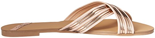 Qupid Women's Slide Flat Sandal Rose Gold 9Tw50zY