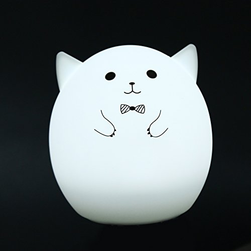 MKChung Mini LED Night Light, Cute Animal Shape Silicone Decompression Lamp for Student Kid Gift (Colorful)(Style 1) by MKChung (Image #1)
