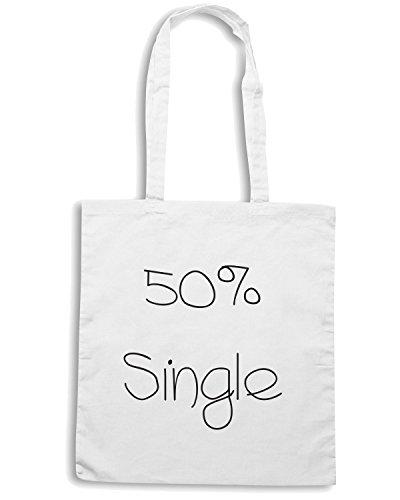 T-Shirtshock - Bolsa para la compra TDM00008 50x100 single Blanco