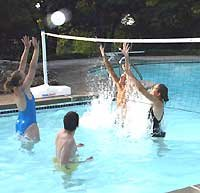 POOL SHOT Pool Volleyball Net - Spike N Splash System by POOL SHOT