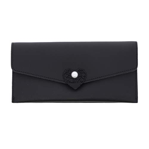 Wallet with Pearl Closure-Black