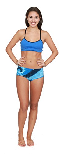 Colortone Tie Dye Boy Shorts LG Blue Ocean Boys Tie Dye Short