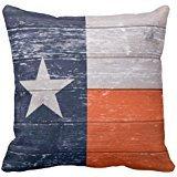 Navy Blue And Orange Texas Flag Throw Pillow Case