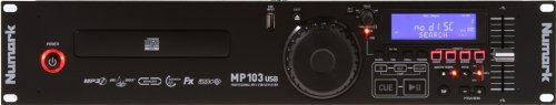 Cd Dj Player (Numark MP103USB | Professional USB and MP3 CD player (Single Tray / RCA & Balanced XLR Outputs))