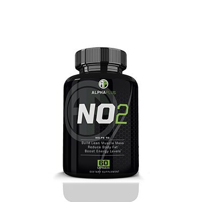 Alpha Plus NO2- Stimulant Free Pre Workout- Build Lean Muscle Mass- Reduce Body Fat- Boost Energy Levels 60 caps