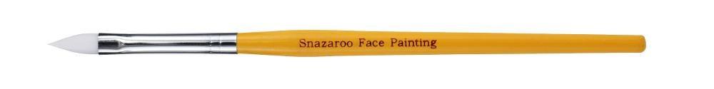 Snazaroo Pincel profesional para pintura facial medio plano color naranja