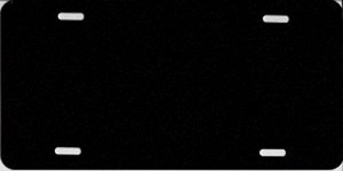 - 0.040 Black Metallic Blank Metal License Plate