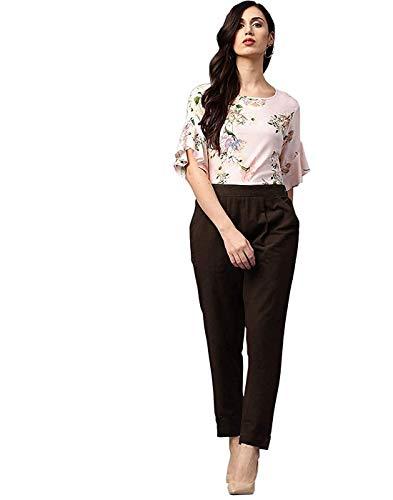 Saavi Creation Regular Fit Women Brown Cotton Blend Trousers