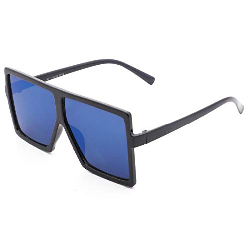 De Película con Sol Color Lens Black Black Frame De Hormigas TLMY contra Grises de Gafas Lens De Blue Personalidad Sol Gafas Marco Grises La Blue De Vuelo La Frame Gran nqZT0