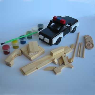 Brandine Wood Kits (Police Car Wood Craft Kit)