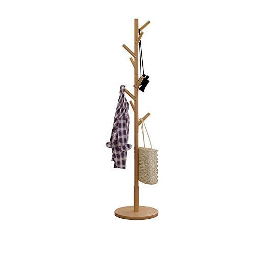 Amazon.com: Perchero de madera de Lebeauty con base redonda ...