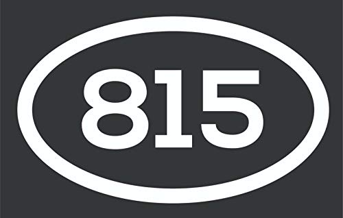 Magnet 815 Area Code Sticker Illinois Rockford Belvidere Crystal Lake City Pride Vinyl Decal Sticker Car Waterproof Car Decal Magnetic Bumper Sticker 5