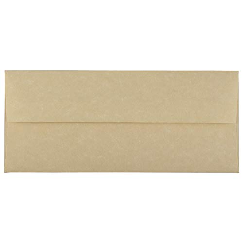 JAM PAPER #10 Business Parchment Envelopes - 4 1/8 x 9 1/2 - Brown Recycled - 25/Pack
