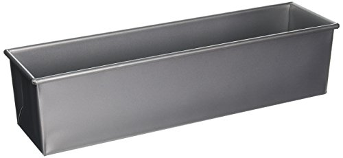 Focus Foodservice 904650 16 by 4-Inch Single Pullman 2-Pound Bread Pan Commercial Bakeware, 2 Pound, Silver (Commercial Loaf Pan)