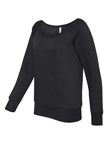 Bella Ladies Ringspun Cotton Straight Leg Fleece Pants - Black - medium