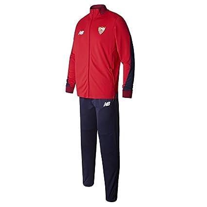 New Balance Chandal Sevilla FC Camiseta, Hombre, Rojo/Azul, XL