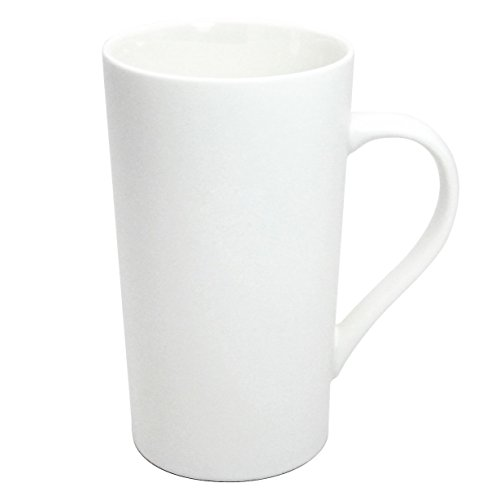Momugs Simple Pure Large Milk Mug, Tall White Ceramic Coffee Cup, 20 oz