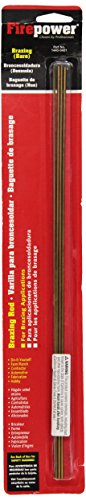 Firepower 1440-0401 Bronze Bare Brazing Rods 3/32-Inch Diameter, 14-Inch Length, 4-Pack