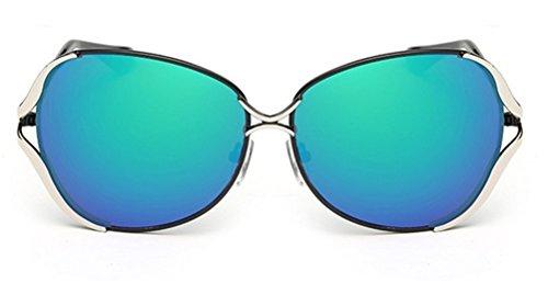 GAMT Womens Fashion Colourful Wayfarer Toad Sunglasses Goggles UV400 Black Framed Green - Colourful Wayfarer Sunglasses
