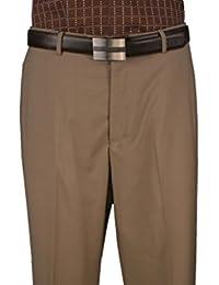 Men's Flat front Pants 100% Wool col. Khaki
