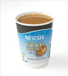 Nescafe & Go oro mezcla descafeinado blanco taza de café foil-sealed para máquina,