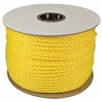 1,080 lb Yellow Orion Ropeworks 350080-00600-R0278 Monofilament Twisted Poly Ropes 600 Polypropylene Capacity