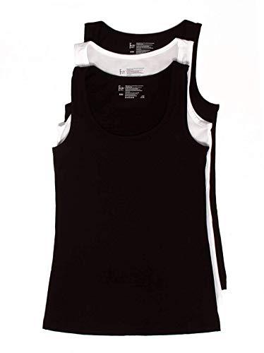 Felina | Cotton Stretch Layering Tank Top | Loungewear | 3 Pack | Multiple Colors Black
