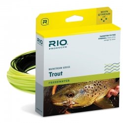 RIO Products Fly Line Mainstream Type 3 12' Sinking Tip Wf6F/S3 Brown/Lemon Green, Brown-Lemon-Green