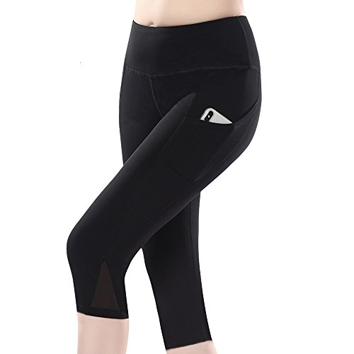 99117d0a43c3f SAMA APPAREL High Waist Leggings Workout Pants Women Mesh Leggings Side  Pockets (Capri X-