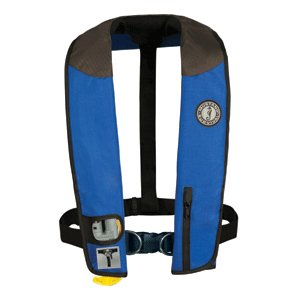 Mustang Survival Deluxe Automatic Inflatable PFD with Harness (Royal/Carbon/Black) ()