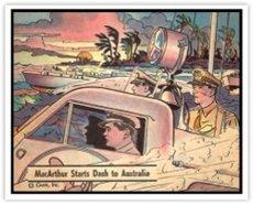 1941 Gum Inc R164 War Gum (Non-Sports) Card# 62 MacArthur's Dash VG Condition