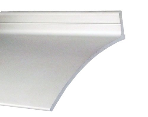 (Pemko Aluminum Door Bottoms Overhead Rain Top Drip, Clear Anodized, 2-1/2
