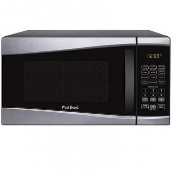 West Bend 0.9-cu. Ft. 900-watt Microwave - Black & Stainless Steel